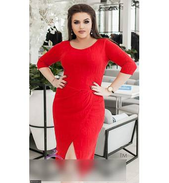 Платье 8512564-2 красный Весна 2018 Украина