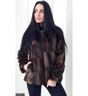 Шуба 858249-1 коричневый Осень-Зима 2017 Украина
