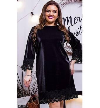 Платье 8512179 черный Осень-зима 2017 Украина