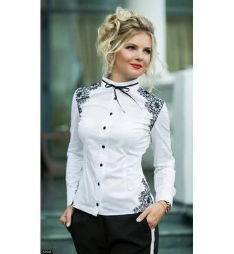 Рубашка 52645 белый Осень-зима 2017 Украина