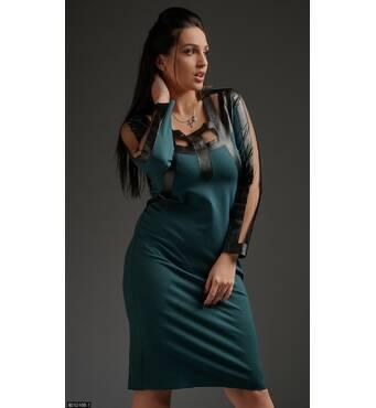 Платье 8512466-1 изумруд Весна 2018 Украина