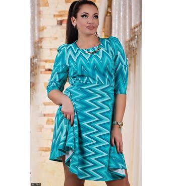 Платье 85778-1 бирюзовый Осень-зима 2017 Украина