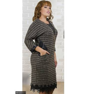 Платье 8512313-1 коричневый Зима 2017 Украина