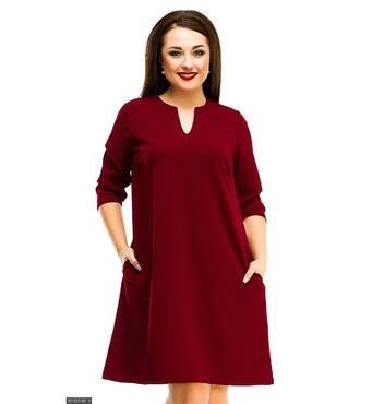 Платье 8512546-1 бордо Весна 2018 Украина