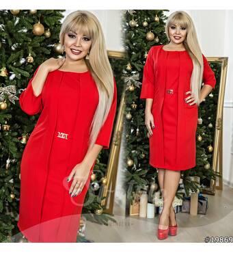 Платье 19869 (красный)