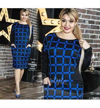 Платье 23151 (черный/синий)