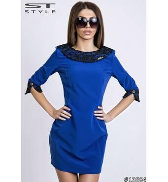 Платье 13564 (электрик)