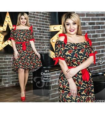 Платье 23995 (черно-красный)