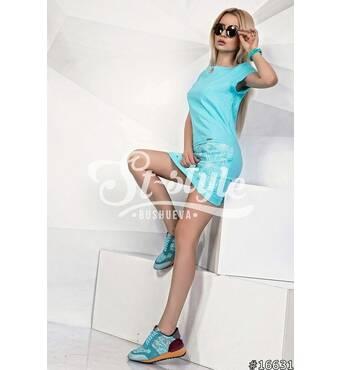 Платье 16631 (ментоловый)