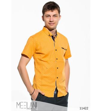 Мужская рубашка короткий рукав Май желтый