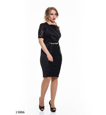 Женское платье большого размера Магда черный