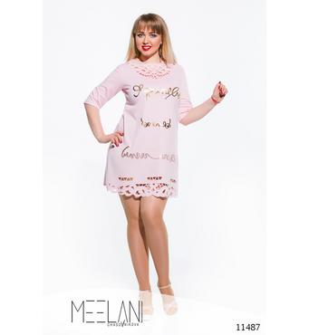 Женское платье большого размера Злата светло розовый
