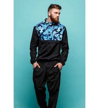 Мужской спортивный костюм Храбр черный