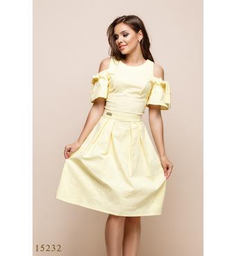 Женское платье 15232 желтый