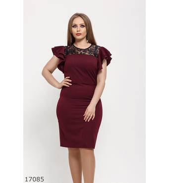 Женское платье 17085 бордовый
