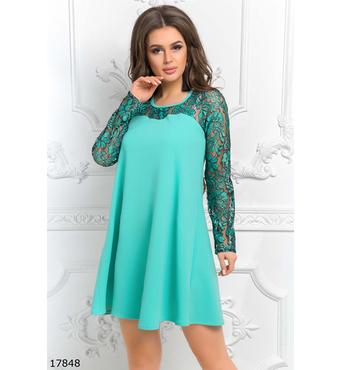 Женское платье 17848 ментоловый