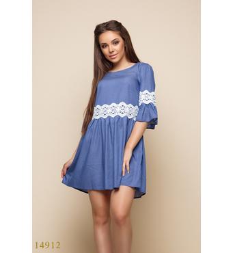 Женское платье 14912 синий принт