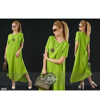 Платье - 16287 (оливковый)