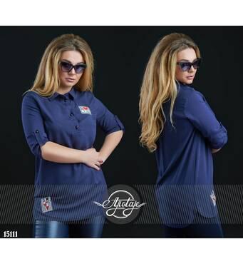 Рубашка - 15111 (темно-синий)