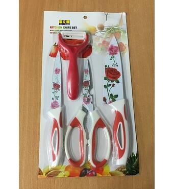 Набор кухонных металлокерамических ножей / ХЕ-41