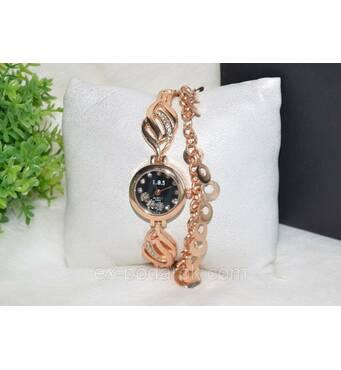 Елегантні жіночі годиннички з браслетом.
