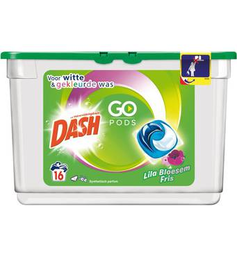 Капсули для універсального прання Dash go pods 16 шт