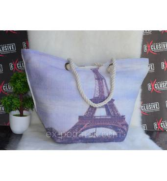 "Жіноча пляжна сумка ""Ейфелева вежа""."