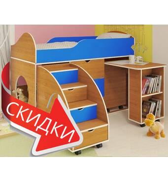 """Кровать-чердак со столом """"Белка"""""""