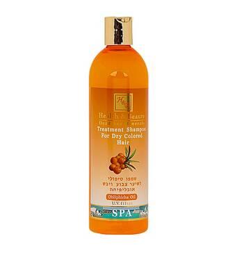 Лікувальний шампунь для сухого і фарбованого волосся з олією обліпихи Health & Beauty Obliphicha 400 мл.