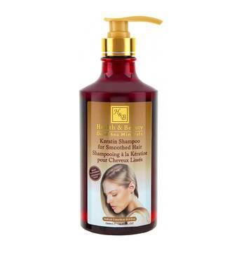 Шампунь з кератином волосся після термічного впливу Health & Beauty Keratin Shampoo 780 мл.