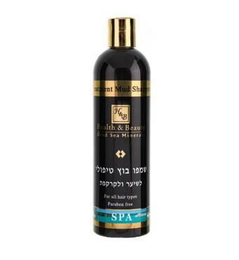 Шампунь з лікувальними грязями Мертвого моря Health & Beauty Treatment Mud Shampoo 400 мл.