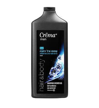 2 в 1 Шампунь і гель для душу з М'ятою і вітаміном Е Crema Men body Shower gel Mint vitamin E 700 мл