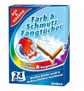 Колірвбираючі серветки Gut & Gunstig для прання одягу 24 шт, EDEKA, Німеччина