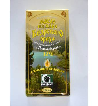 Масло кедровое с живицей 10%