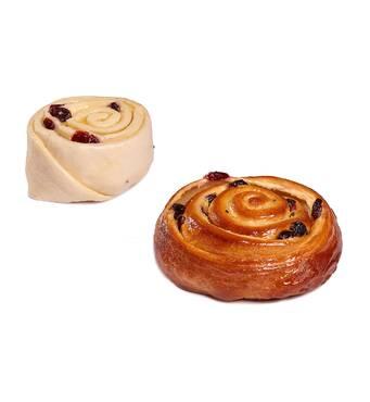 Булочка «Улитка» с ванильной начинкой и клюквой, купить