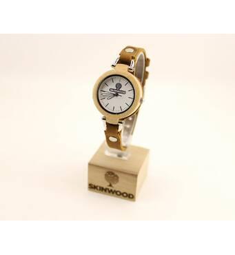 Дерев'яний наручний годинник SkinWood Lady