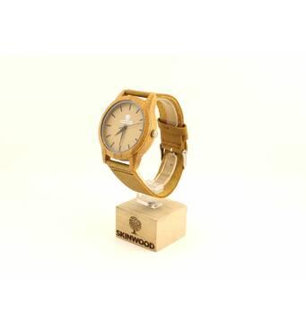 Дерев'яний наручний годинник SkinWood White