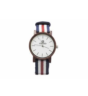 Дерев'яний наручний годинник SkinWood Grace Red