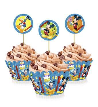"""Топперы для капкейков """" Микки Маус """", 6 шт."""