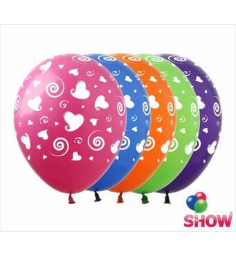 """Повітряні кульки сердечка і спіральки 12"""" (30 см)   ТМ Show"""