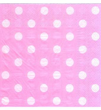 Серветки паперові святкові Горох рожевий (20 штук)