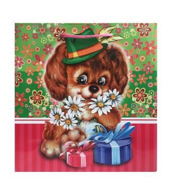 """Подарункові пакети """"Собачка в капелюсі"""" 23 х 24 см   (6 шт./уп.)"""