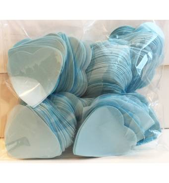 Конфетті сердечка, бірюзові, 50 грам