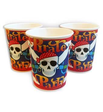 """Скляночки одноразові дитячі """"Пірат"""" 10 шт./уп. Посуд одноразовий дитячий"""