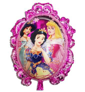 Фольгированный воздушный шарик - зеркало принцессы 70х59 см (Китай) в упаковке