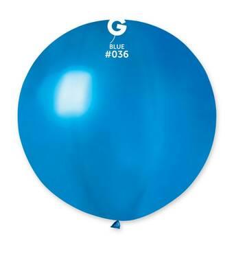 """Шар сюрприз металік синій 31"""" (80 см).  Кульки повітряні гіганти Gemar"""