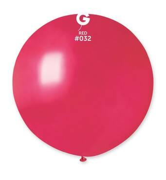 """Шар сюрприз металік червоний 31"""" (80 см).  Кульки повітряні гіганти Gemar"""