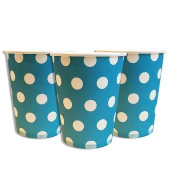 """Склянки одноразові паперові дитячі """" Горох блакитний """" 10 шт./уп."""