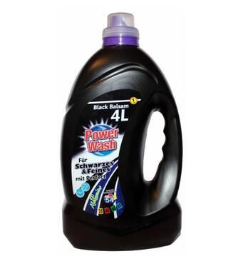Гель для прання Power Wash Black Balsam для чорних і темних речей, 4л