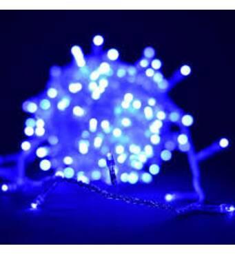 Гірлянди 300 ламп LED синій К-112